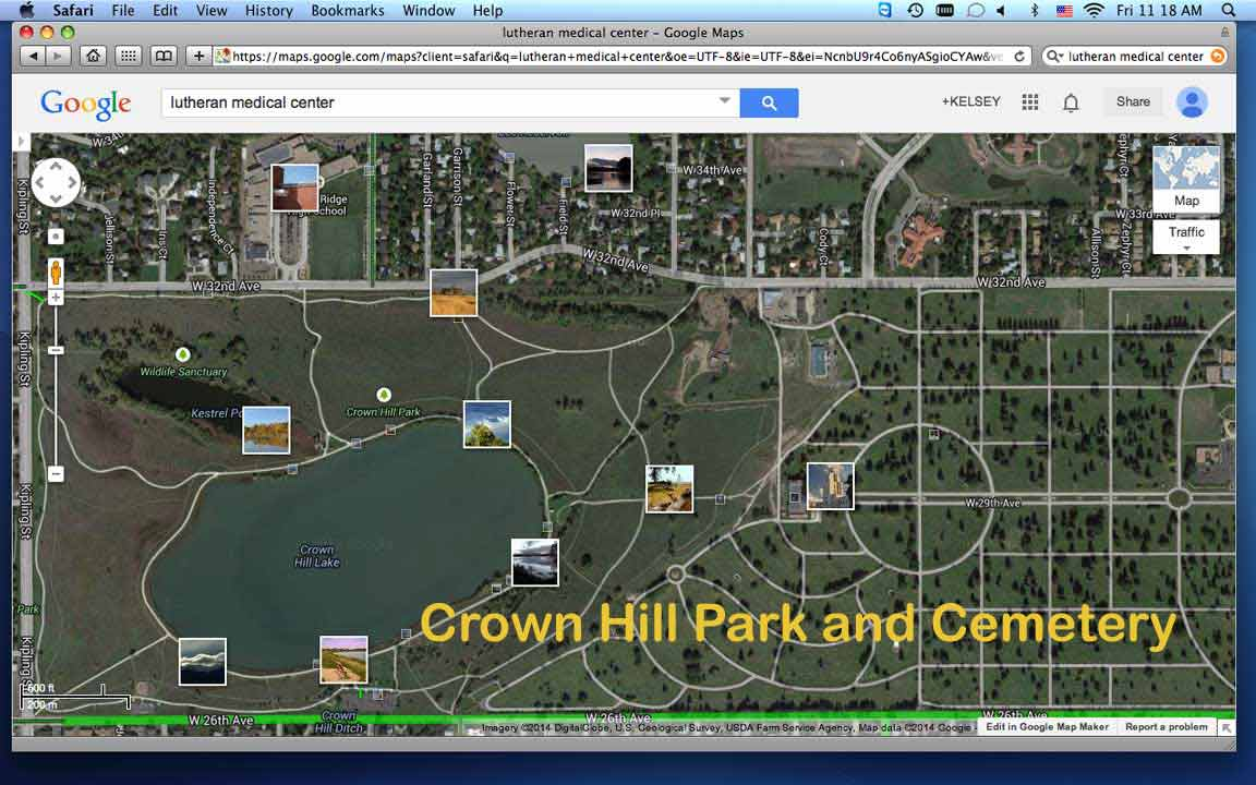Map of Crown Hill Park and Lake